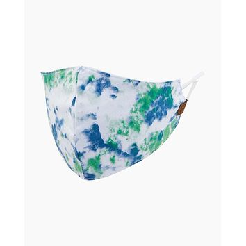 C.C. Fabric Face Mask - Green Tie Dye