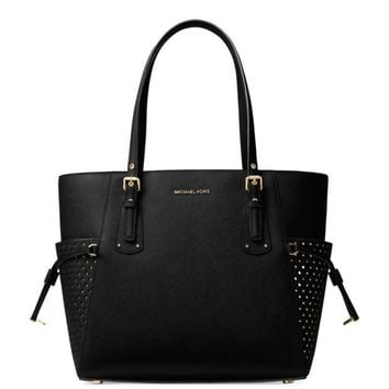 DCCKLO8 MK Voyager Signature Leather Tote Black Wrapped NWT X Mas Gift!