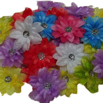 3pcs. Mix Satin Lily Flower Hair Clips