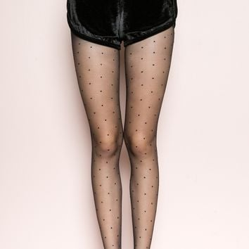 SHEER POLKA-DOT TIGHTS