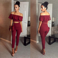 Calista Flounce Two-Piece Jumpsuit