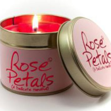 Rose Petals Scented Candle - Scented Tins - Lily Flame Ltd