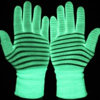 Glow Gloves - Glow in the Dark and Blacklight Pair of Gloves