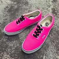 simpleclothesv :Vans Authentic Women's Fluorescence Color Canvas Shoes Sneakers