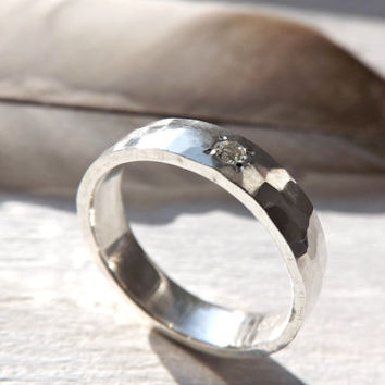 shop rustic wedding bands silver on wanelo