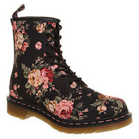 Dr. Martens - 8 EYELET LACE UP BT BLACK FLORAL
