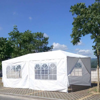 10'x20' Outdoor Marquee Tent Canopy Party Outdoor Patio Wedding Tent Heavy Duty Gazebo Pavilion Cater Events
