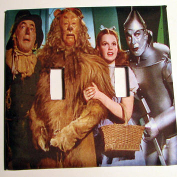 Double Light Switch Cover - Light Switch Wizard of Oz Dorothy Judy Garland