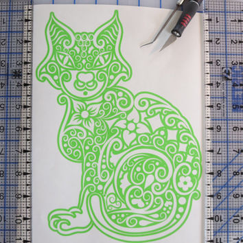 Best Cat Window Decals Products On Wanelo - Cat custom vinyl decals for car windows
