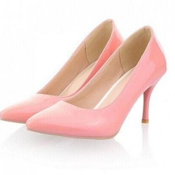 New Fashion High Heels Women Pumps Thin Heels Classic White Red, Nude and Beige Sexy Prom Wedding Shoes