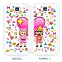 case,cover for samsung models>BFF emoji,emojis,best friend>friends>blond>girls.
