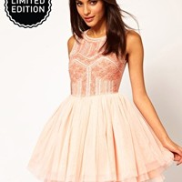 ASOS Prom Dress with Embellished Bodice - Pink