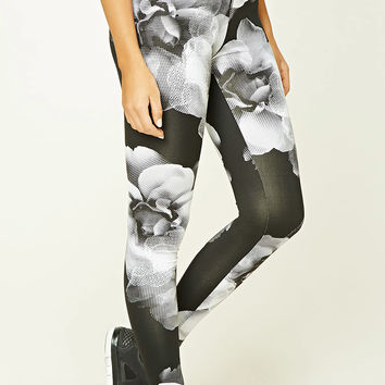 Active Floral Print Leggings