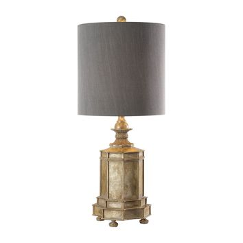 Falerone Transitional Distressed Golden Champagne Table Lamp by Uttermost