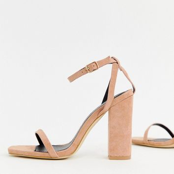 RAID Anusha taupe block heeled sandals at asos.com