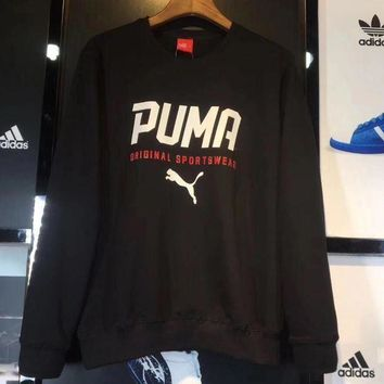 PEAPON Puma Fall Fashion Print Sport Round Neck Sweater Top Pullover Sweatshirt