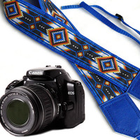 Native American Camera strap (inspired).  Southwestern Ethnic Camera strap.  DSLR Camera Strap. Camera accessories.