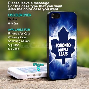 Toronto Maple Leafs NHL Ice Hokey - For iPhone 5 Black Case Cover