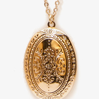 Oval Locket Necklace | FOREVER 21 - 1015450450