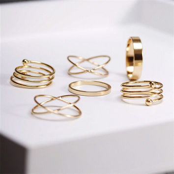 Knuckle Rings Finger Set