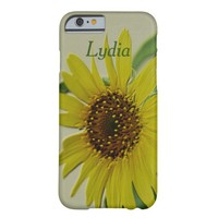 Embossed Sunflower Custom Barely There iPhone 6 Case