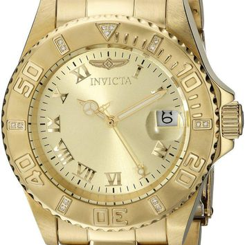 Invicta Pro Diver Diamond Accented Bezel Quartz 12820 Men's Watch