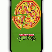iPhone 6 Plus Case - Rubber (TPU) Cover with Teenage Mutant Ninja Turtles TMNT pizza Rubber Case Design