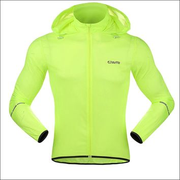 Outto Men Cycling Windproof Jackets Sun-protective Anti-splashing Water Cycling Clothings Skin Coat Water Repellent Fluorescence