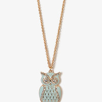 Sparkling Owl Chain Necklace