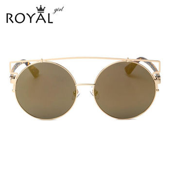 ROYAL GIRL NEWEST Women Double Wire Oversized Sun glasses Big Round Bohemian Vintage Sunglasses ss18