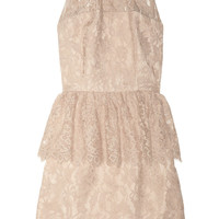 Milly | Liza floral-lace peplum dress | NET-A-PORTER.COM
