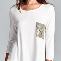 Radiant Tunic Top - White