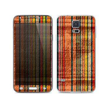 The Abstract Retro Stripes Skin For the Samsung Galaxy S5