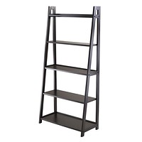 Attractive Five Tier Adam Polished Black A Frame Shelf by Winsome Woods