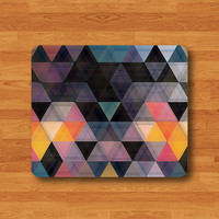 Geometric Triangle Colorful Art Mouse Pad Desk Pad Fabric Seamless MousePad Personalized Rectangle Pad Matte Christmas Gift Computer Pad
