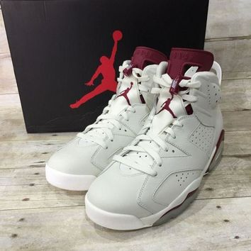 DCCKIG3 Air Jordan 6 Retro (Off White / New Maroon)