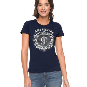 Logo Jc Crystals Short Sleeve Tee by Juicy Couture,
