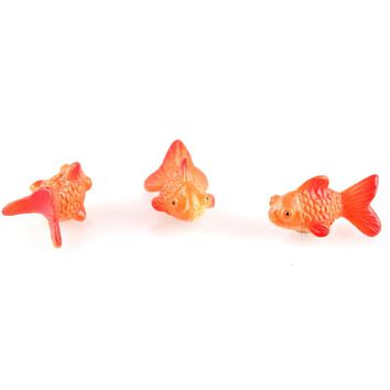 Super mini Animal Gold Fish Miniature Dollhouse DIY Micro Landscape Garden Terrarium Statue Home Decor Ornament