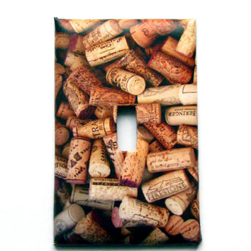 Light Switch Cover - Light Switch Plate Wine Cork Stoppers Kitchen Decor