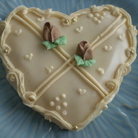 Decorated vanilla bean heart sugar cookies  Gluten Free