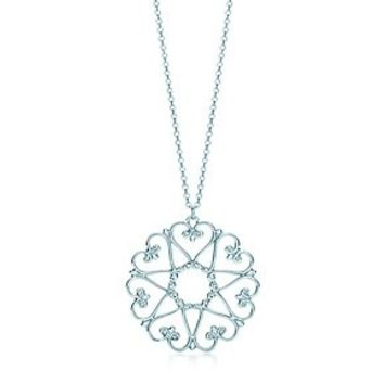 Tiffany & Co. -  Paloma's Venezia Goldoni medallion pendant in sterling silver.