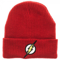 The Flash Logo Cuff Beanie Hat