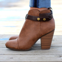 The Gail Bootie {Tan+Chocolate}