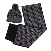 Fendi Hat and Scarf Set