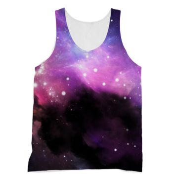 Black Smoky Galaxy American Apparel Sublimation Vest