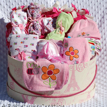 Baby Girl SUPREME Gift Basket, Baby Gift Basket, Baby Girl Shower Gift