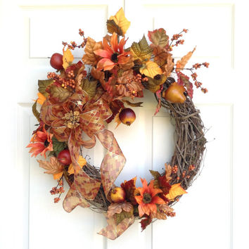 Argyle Fall Wreath