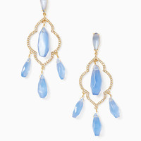 lantern gems chandelier earrings