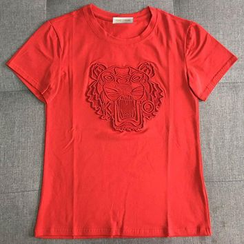 GUCCI Tiger Head Embroidery Fashion Tunic Shirt Top Blouse-3