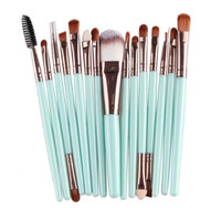 15PCs Wool Makeup Brush Set Tools Toiletry Kit